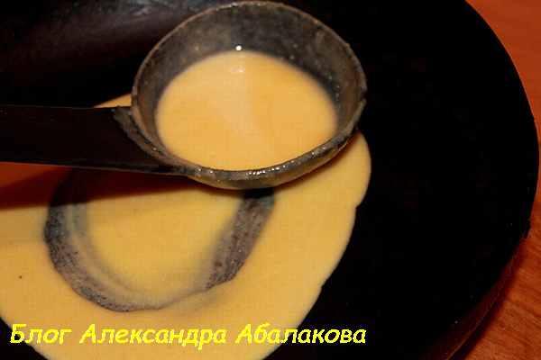 рецепт блинов на кукурузной муке