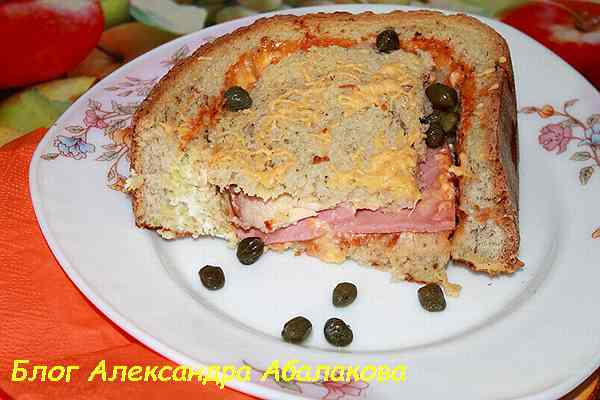 горячие бутерброды в духовке с ветчиной и сыром