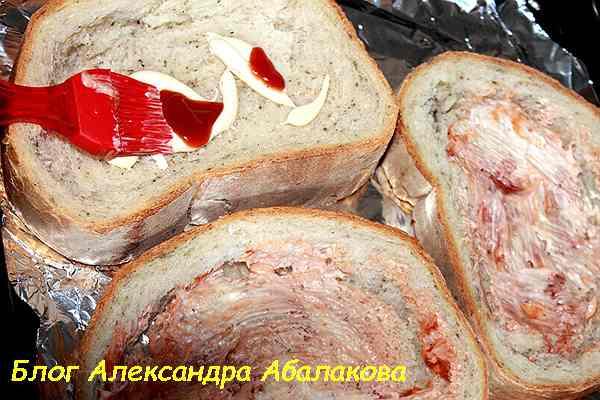 вкусные бутерброды с колбасой