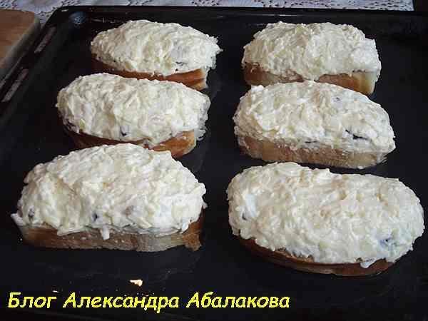 гренки с сыром на противне