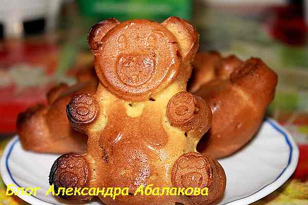 кексы на сметане рецепт мишек с фото