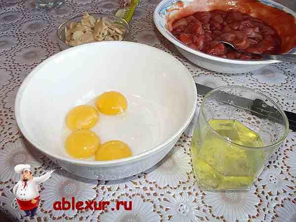 отделить желтки от белков у четырех яиц