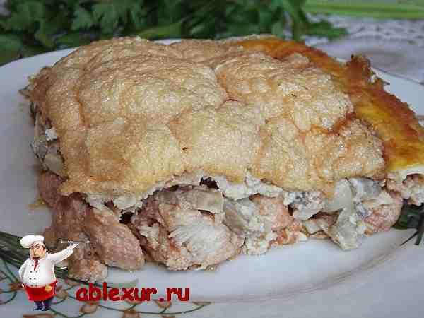 рецепт с фото запеканки из курицы