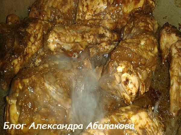 рецепт куриных крылышек в медовом соусе