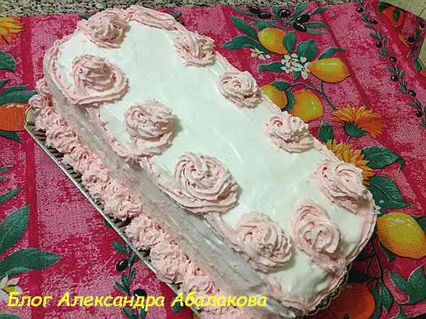 песочный торт с кремом