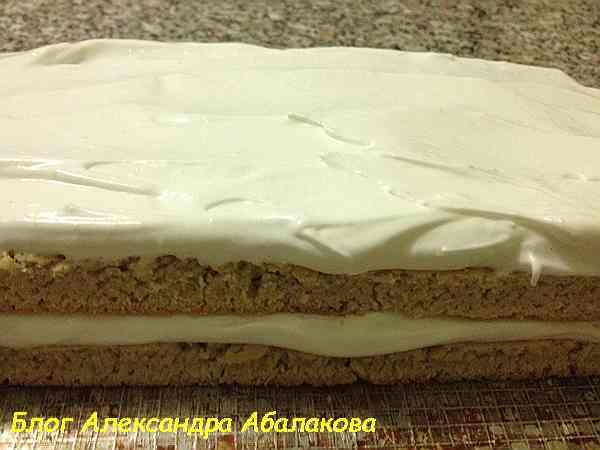 торт из песочного теста с кремом