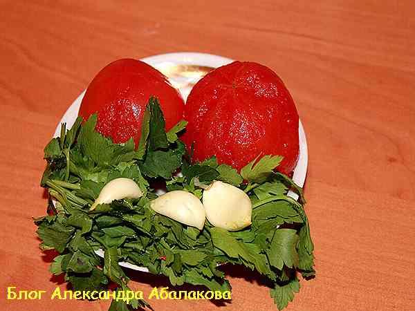 помидоры для щей на курином бульоне