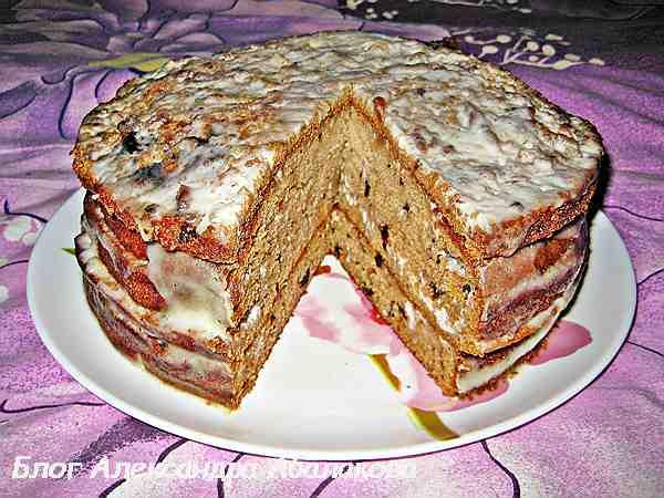 торт трухлявый пень с вареньем