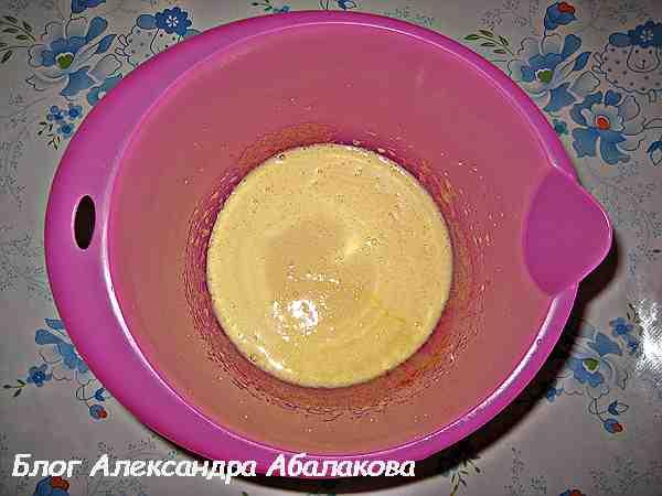 яичная смесь для торта трухлявый пень