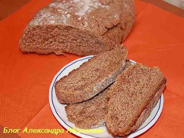 пшеничный хлеб с отрубями в домашних условиях