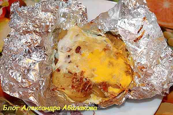 рецепт завтрака из картошки запеченного в фольге