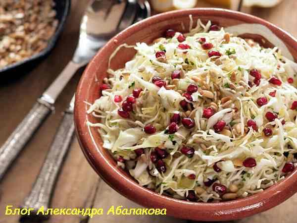 постный зимний салат с капустой