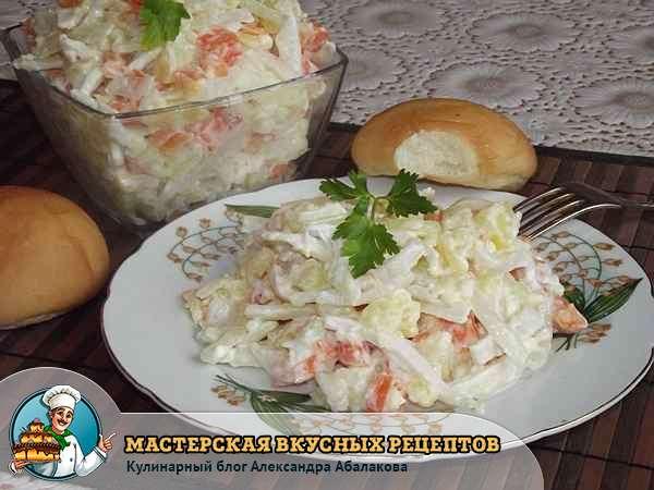 как приготовить салат из картошки и кальмаров
