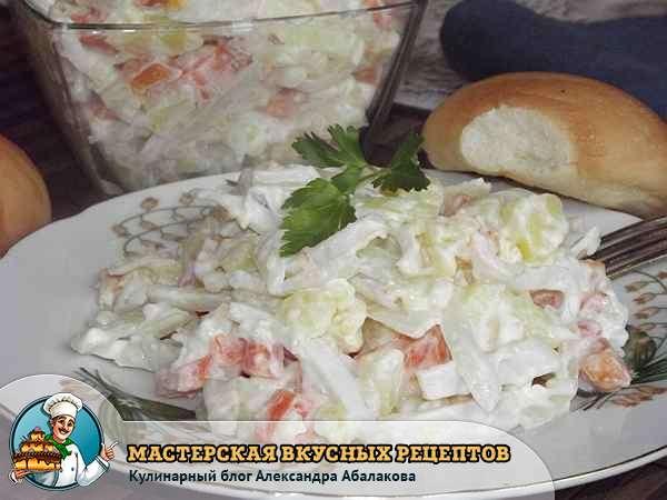 картофельный салат с кальмарами рецепт с фото
