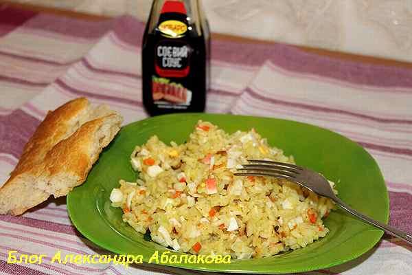 как приготовить рис с яйцом