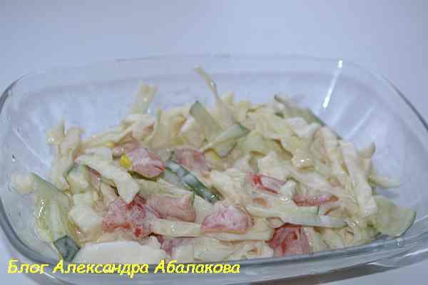 вкусный салат из свежих овощей