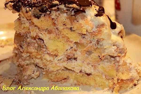 рецепт торта панчо с ананасами