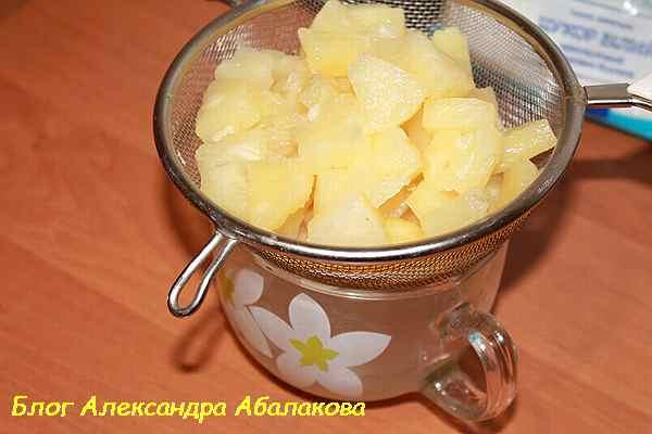 консервированные ананасы для торта панчо