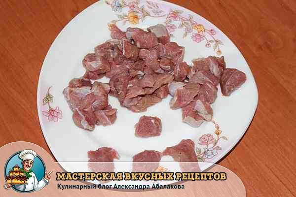 мясо свинины для плова из нута