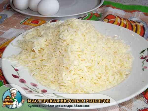 натертый сыр для запеканки