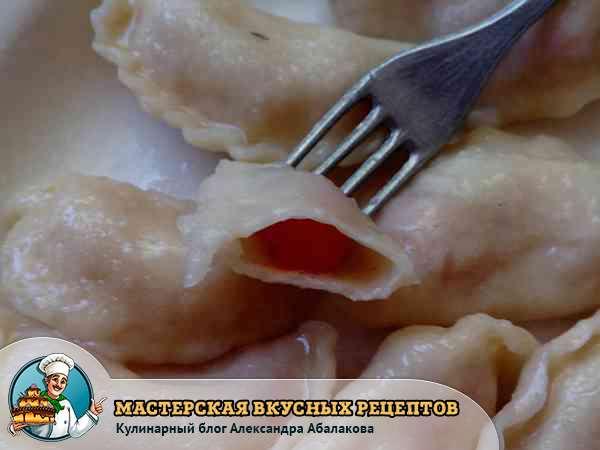 пошаговый рецепт вареников с вишней
