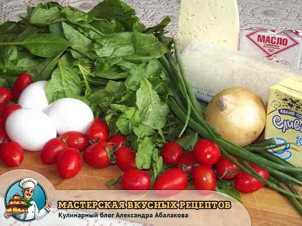 продукты для киша со шпинатом