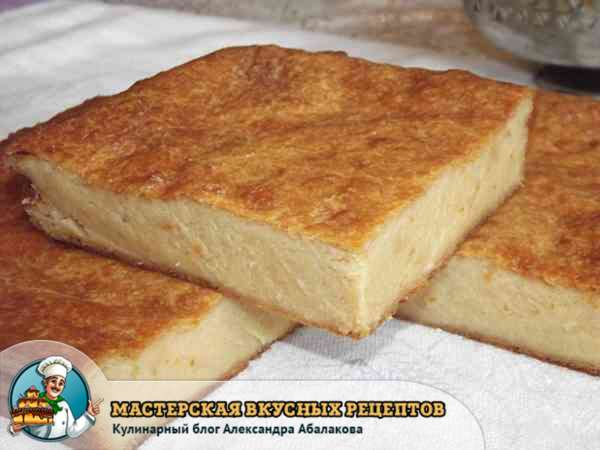 рецепт с фото сырной запеканки