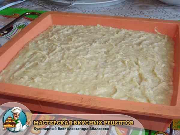 сырная масса в форме для запеканки