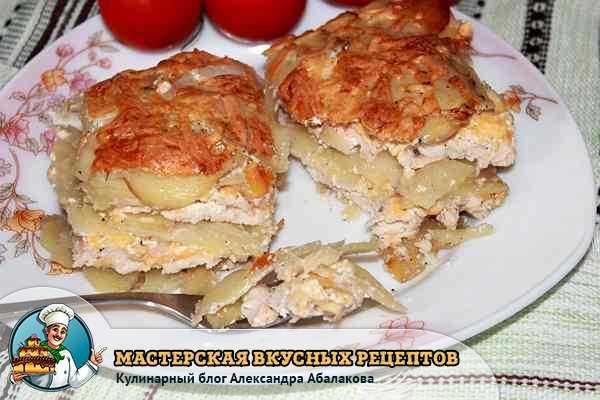 запеканка из картошки и курицы