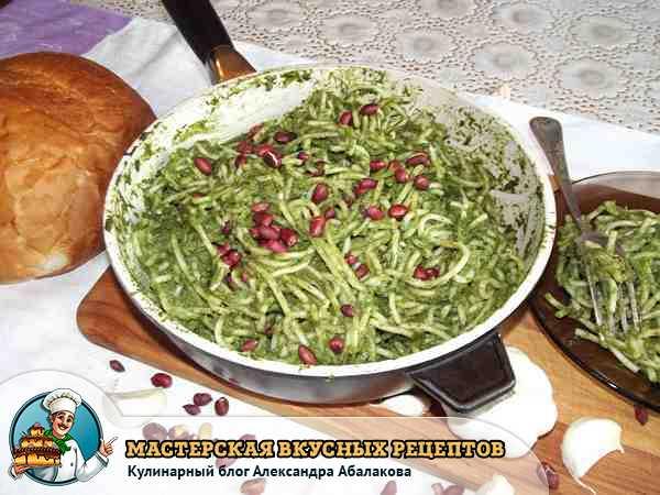 как приготовить пасту со шпинатом