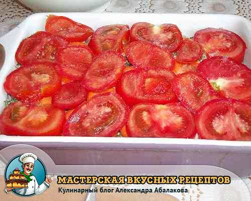 положить помидоры на морковь