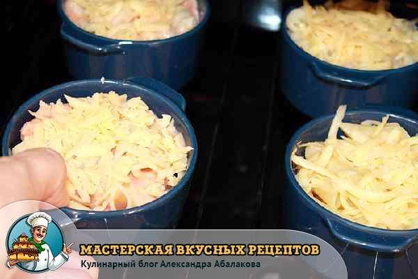 поставить запеканку с сыром и яйцом в духовку