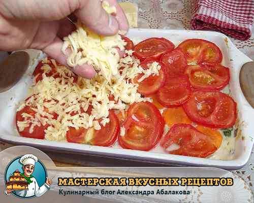 посыпать кабачковую запеканку сыром