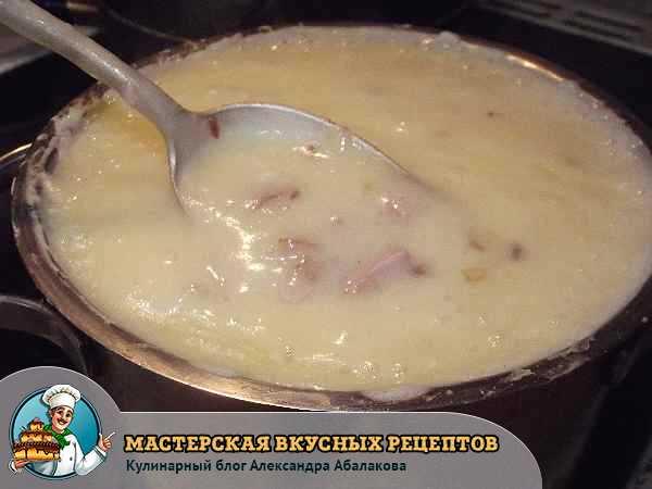 прокипятить суп-пюре