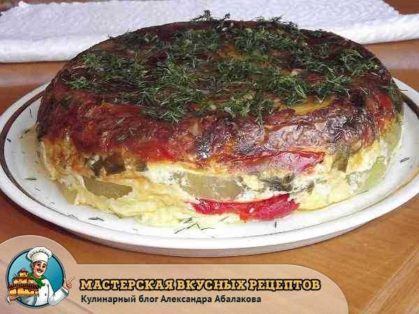 рецепт овощного торта в мультиварке