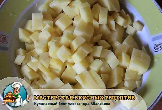 картошка для супа с гречкой