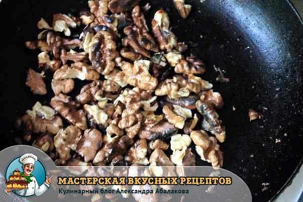 обжарить грецкие орехи