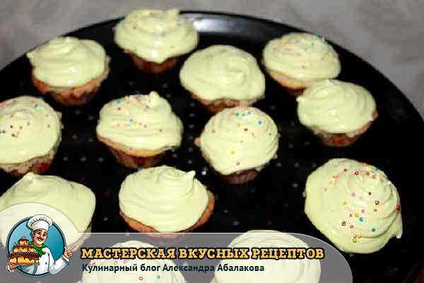 Рецепты капкейков с фото пошагово с начинкой