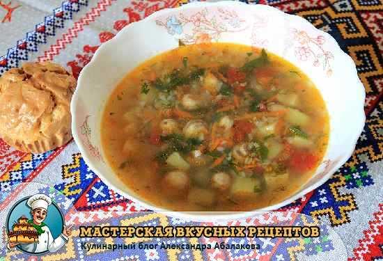 рецепт с фото супа с гречкой