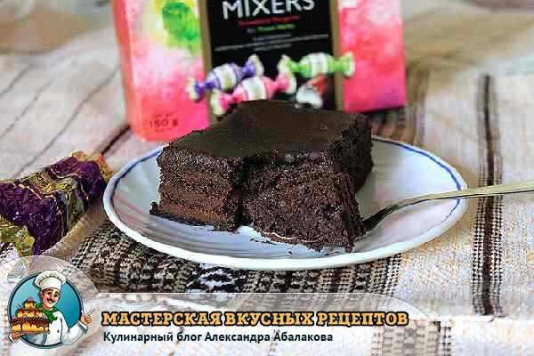 рецепт шоколадно бисквитного торта