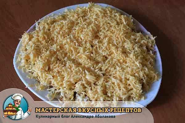 выложить на орехи сыр