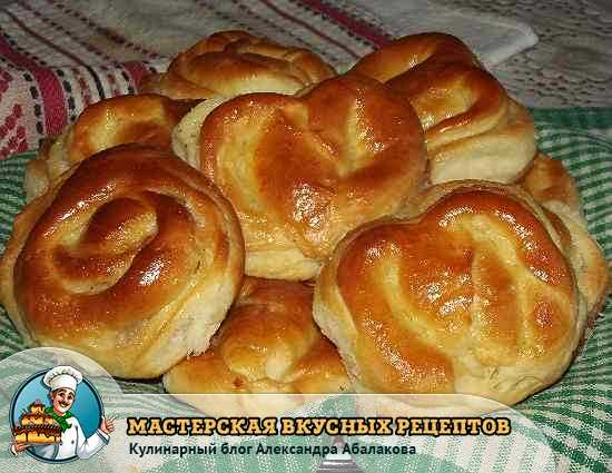 рецепт булочек с сахаром