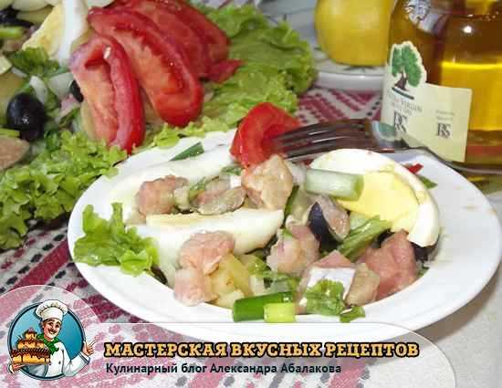 рецепт салата из красной рыбы
