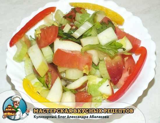 рецепты салатов из необычных продуктов