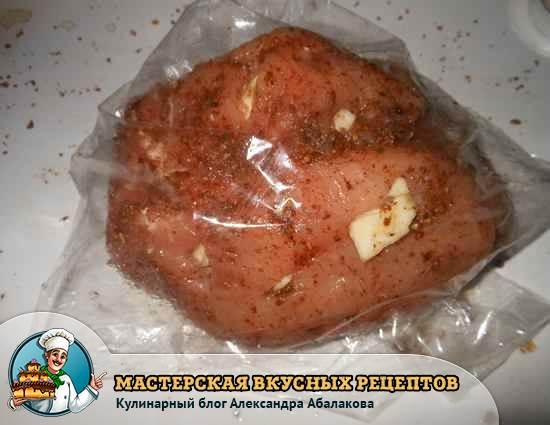 свиная корейка в рукаве