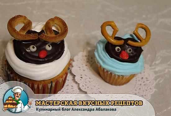 печенье на капкейке