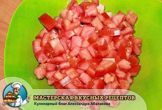 помидор кубиками
