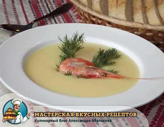 рецепт супа с креветками и плавленым сыром