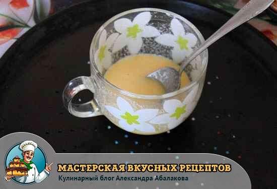 смесь из порошка и молока