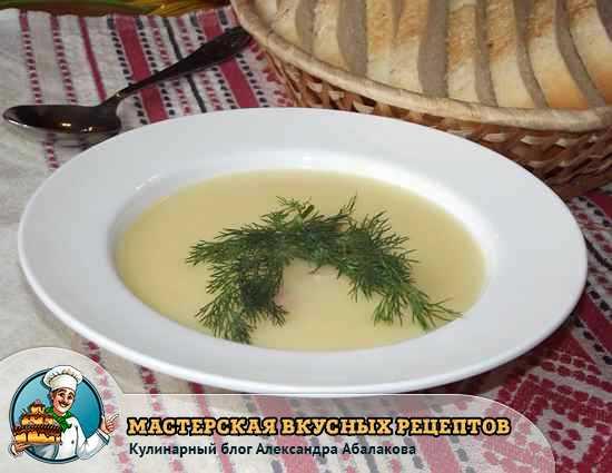суп с сыром картошкой и креветками